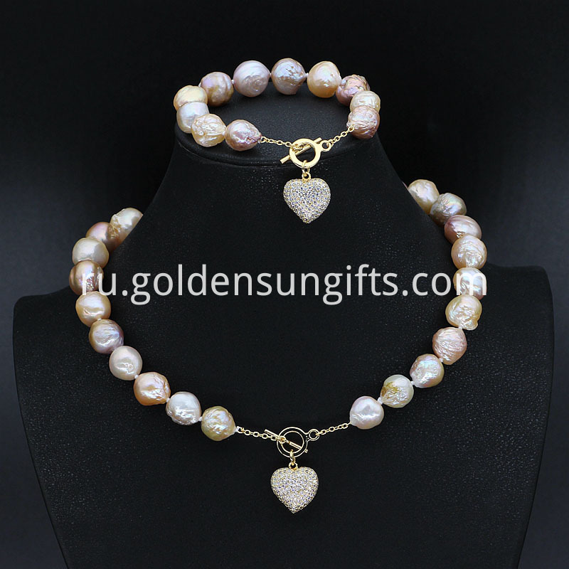 Colorful Baroque Pearl Jewelry Sets