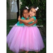 Lovely turquesa por encargo flor chica vestidos CWFaf4240