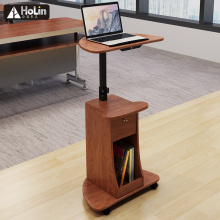 Table de bureau réglable pour ordinateur portable roulante Stand-Up