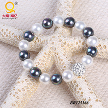 2014 Trendy Shell Bead Diamond Ball Bracelet (BR125166)