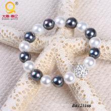 2014 moda concha perla diamante pulsera de la bola (BR125166)