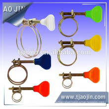 Insulated plastic handle Non-perforated Band hose clamps thumb nut/wing nut W2 plastic hose clamps
