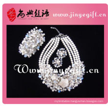 Specialy Design New Inspired Big Pearl Necklace Set