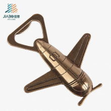 Top Selling Custom Logo Metal Craft Airplane Bottle Opener for Promotional Gift