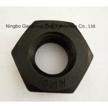 DIN6915 10 Hv Nuts /Structural/Black, Zinc Plate /HDG