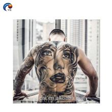 Tatuagem provisória feita sob encomenda de venda quente da etiqueta da parte traseira do corpo com não-tóxico