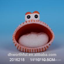 Soporte de esponja de cerámica promocional con diseño animal