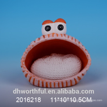 Promotional ceramic sponge holder with animal design