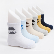 Venta caliente chicos equipo algodón calcetines con diseños de bigote
