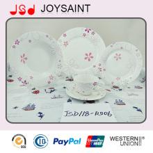 Plato de sopa del plato de Dinnner de la porcelana de 9inch para el hogar