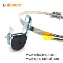 Braçadeira de suspensão pré-formada galvanizada galvanizada da suspensão do cabo de fibra óptica do alumínio ADSS