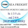 Shantou Port Sea Freight Shipping ke Pureto Cabello