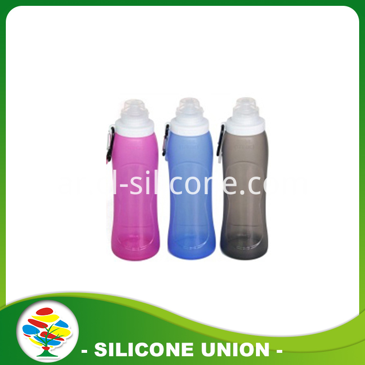 purple blue black silicone bottle