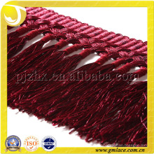 Hand-knitted Tassel Fringe Mercadorias China Wholesale Trimming Off Red