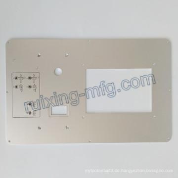 CNC-Fräsen Bearbeitungsplatte Aluminiumplatte für Instrumente und Sensorzubehör