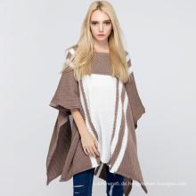 Qualitäts-Frauen-Pullover-lose unregelmäßige Knit-Strickjacken-Poncho