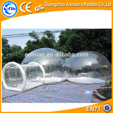 Outdoor camping inflatable clear air dome tent inflatable transparent dome tent