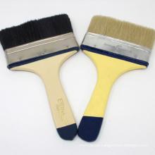 Eterna 102 High Quality Black Bristle Tinplated Ferrule Milk White Wooden Handle Paint Brush