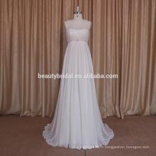 Design simple d'élégante robe de mariée Robe de mariée style boho avec mousseline de soie