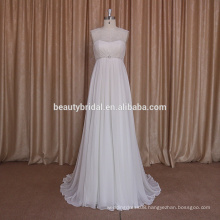 simple design of elegant wedding dress boho style bridal dress with silk chiffon