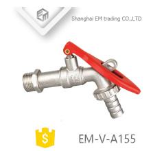 EM-V-A155 Messing abschließbar langen Körper Garten Wasserhahnhahn tippen