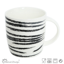 Taza de cerámica de 12 oz con diseño de etiqueta raspada