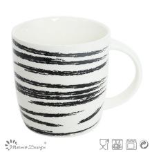 Tasse en céramique 12 oz avec décalcomanie