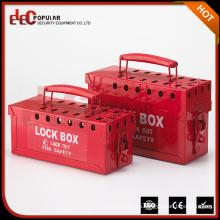 Elecpopular Barato Caja Roja Portátil Metalúrgica De Bloqueo De Uso Múltiple Con Revestimiento Eléctrico