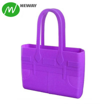 New Silicone Handbag Jelly Tote Bag Silicone Bags for Woman 1pc/poly Bag 100% Silicone Multicolor,can Be Customized Moulding