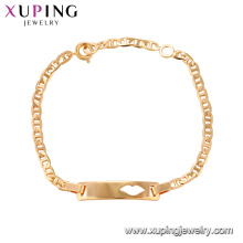 75144 Xuping lead and nickel safe alloy fashion jewelry trending 18k gold charm bracelet