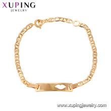 75144 Xuping chumbo e níquel liga de segurança jóias de moda tendência 18k pulseira de charme de ouro