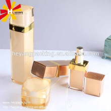 Luxury golden square cosmetic serum bottle