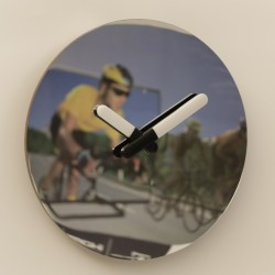 16 Inch Mirror Wall Clock with Lighted Hand