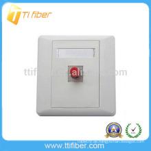 FC Single Port Fiber Optic Faceplate / Wandplatte