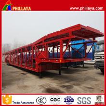 32 Meter Tri-Axle offener Rahmen-Auto-Transport-Anhänger
