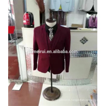 Free Shipping 2017 Burgundy Colored Men Suits Long Sleeves Formal Dress Occasions Hot Sale