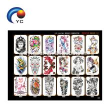 Etiquetas provisórias impermeáveis para a etiqueta do tatuagem do braço do projeto da beleza das mulheres dos homens grande