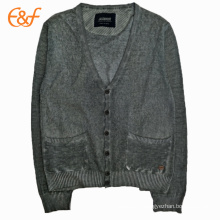 Basic Style Cardigan Button Up Sweaters For Men