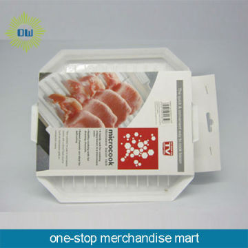 high quality plastic microwave bacon plate rack