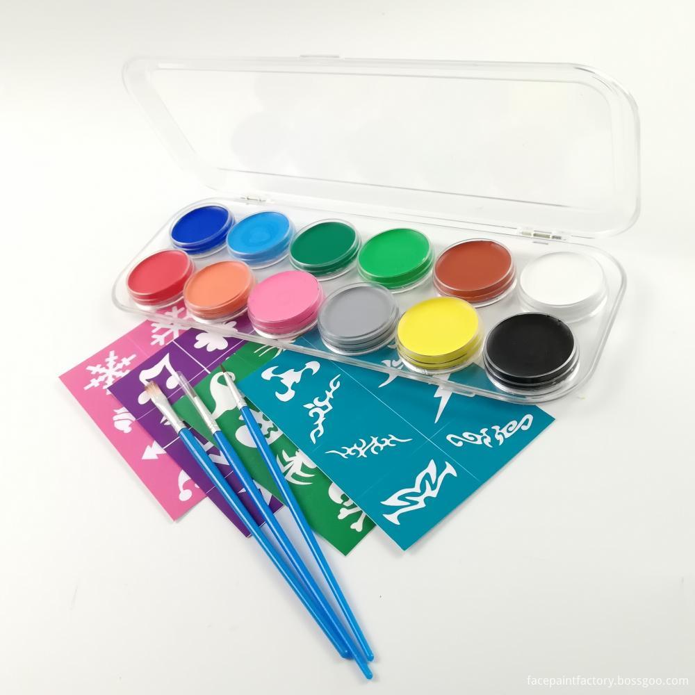 12 Colors Face Paint 3
