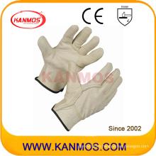Guantes industriales de mano de seguridad de grano de cerdo Guantes de trabajo de cuero (22203)