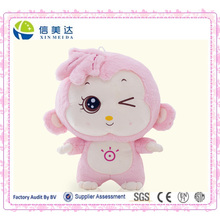 Cuddy Pink Big Head Sun Monkey Animal Plush Toy
