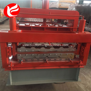 Glazed tile roof panel double layer roll forming machine