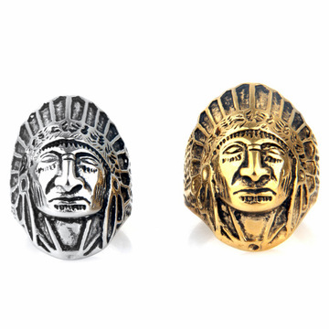 Anillo antiguo plateado plata Bohemian Tribe Leaders