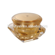 Square diamond acrylic cream jar /30ml diamond cosmetic jar/purple color diamond sides cream jar
