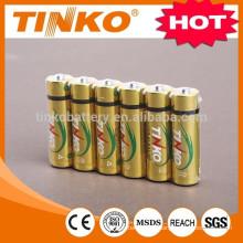 TINKO alcalina del acumulador LR6 AA 4pcs/blister OEM dado la bienvenida