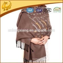 Pashmina indiana escovada de seda de alta qualidade da mulher