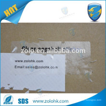 qc pass ultra thin Inkjet digital printing mateials adhesive vinyl transparent eggshell sticker, no removable sticker