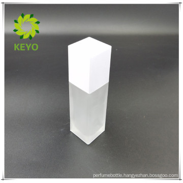 new products empty square frosted pump cap glass cosmetics jar bottle