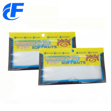 Fishing Lure Packing Clear Plastic Bag With Ziplock